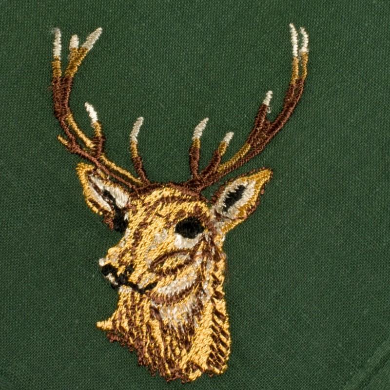 mouchoir-brode-st-hubert-homme-100%coton-41cm-detail-2