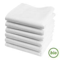 """Mouchoirs en tissu bio """"HANKISS Snow"""" (x6)"""